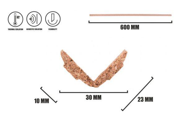 Kork Fußleisten LN-1