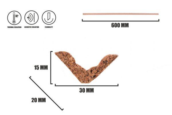 Kork Fußleisten LK-1