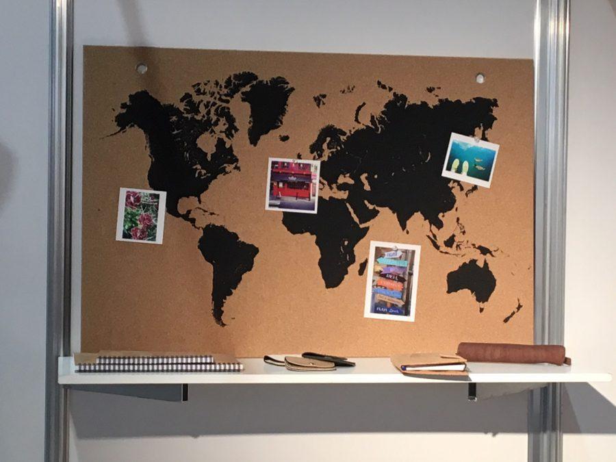 Pinnwand Weltkarte Natural 915mmx610mmx5mm Kork Geschaft