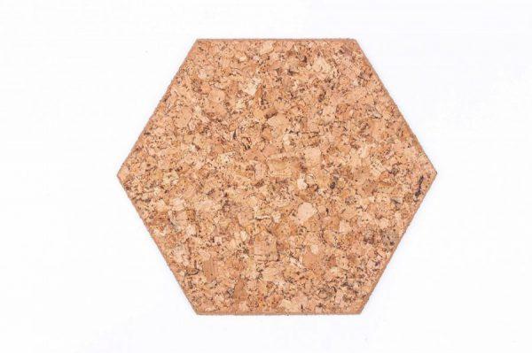 Kork Platten Hexagon Dekorativ