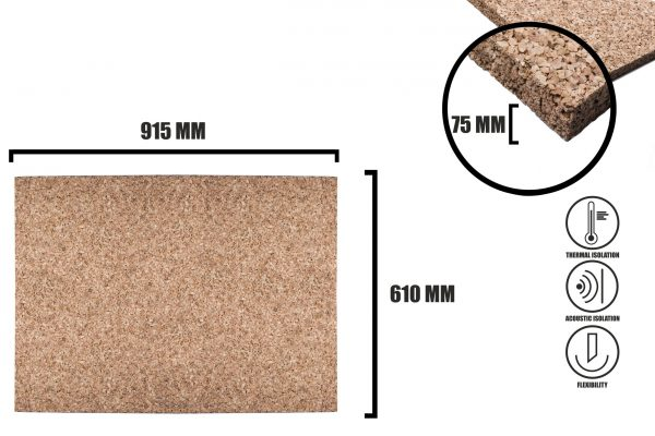 Korkplatten 75mm