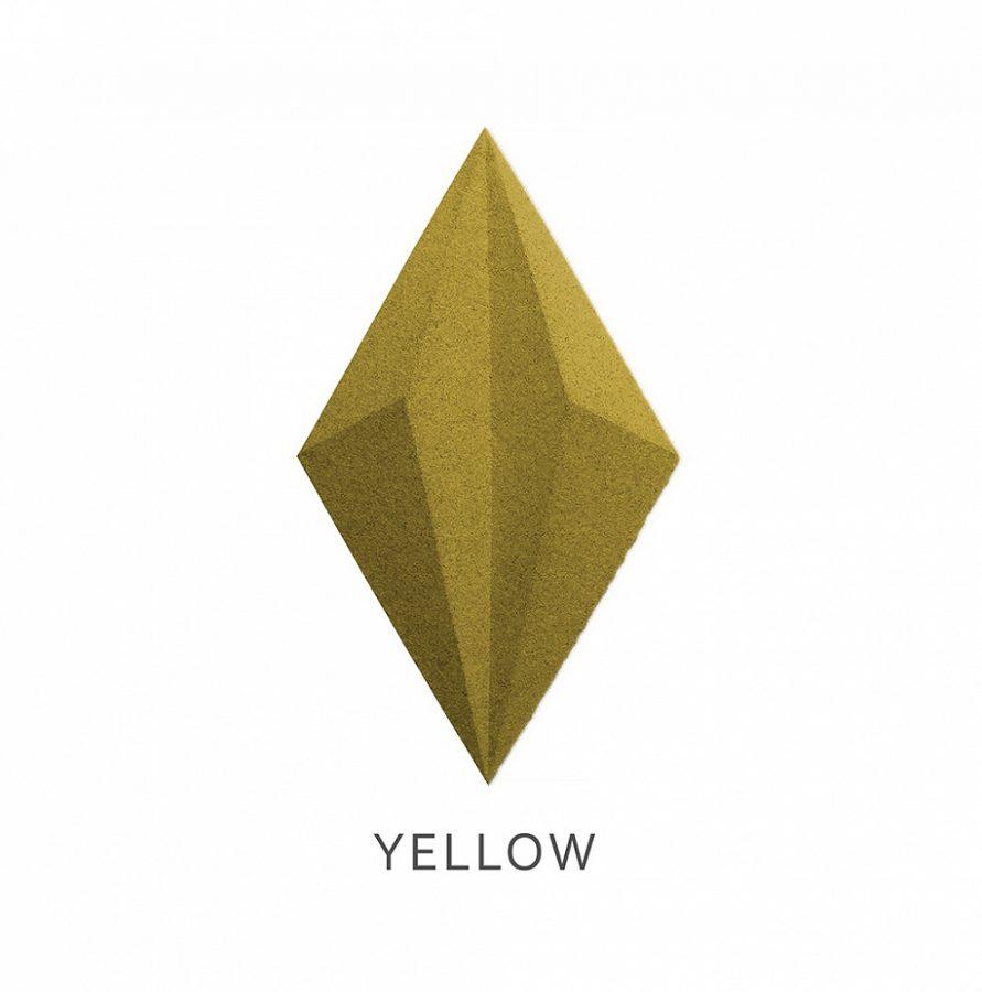 3D Wandpaneele Line Yellow