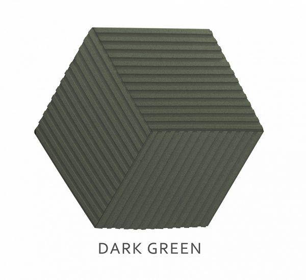 3D Wandpaneele Stripe DARK GREEN