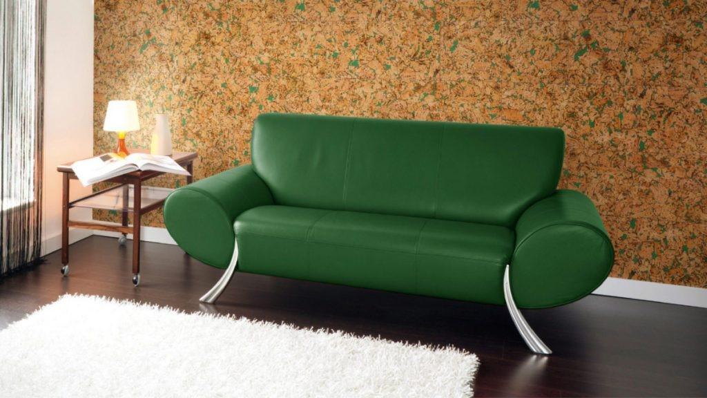 Kork vägg grön